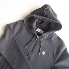 Original Penguin Sticker Pete Fleece Hoodie - Dark Sapphire