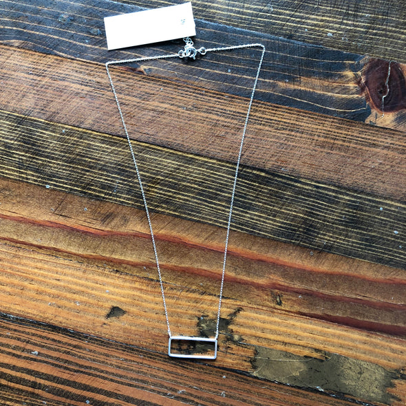 Jamison Rae Small Rectangle Necklace
