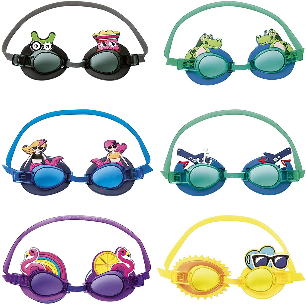 Bestway Character Swimming Goggles Multi 3+ years - BestwayEgypt