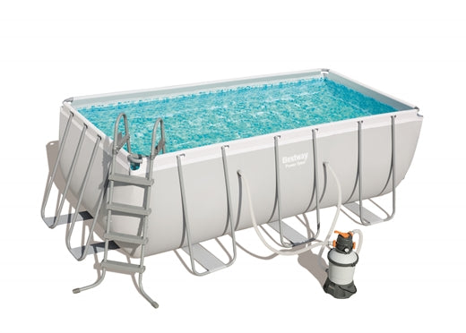 Power Steel™ 4.12m x 2.01m x 1.22m Rectangular Pool Set - BestwayEgypt