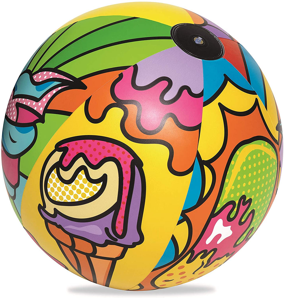 Bestway Inflatable 36 Inch Beach Ball with Pop Art Design - BestwayEgypt