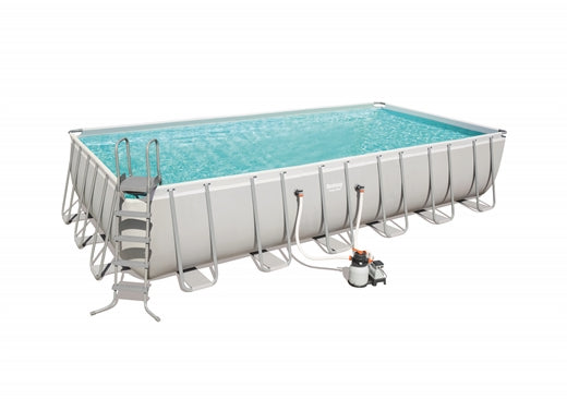 "Power Steel™ 24' x 12' x 52""/7.32m x 3.66m x 1.32m Rectangular Pool Set - BestwayEgypt"