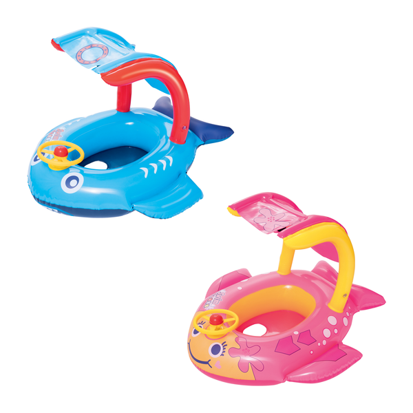 Swim Safe 81cm x 66cm Playful Shark/Fish Baby Boat - BestwayEgypt