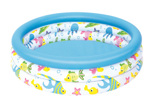 Bestway Ocean Life Inflatable Paddling Pool for Kid's 102x25 cm - BestwayEgypt