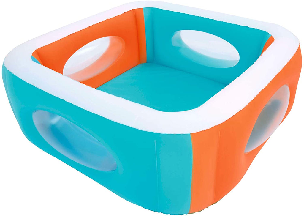 Two-Tone Inflatable Kiddie Pool with Windows 168x56 cm - BestwayEgypt