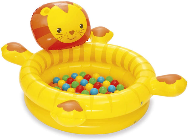 Bestway 52261-19 Up - Inflatable Lion with 50 Balls, 111 x 98 x 61.5 cm, Multicolor - BestwayEgypt