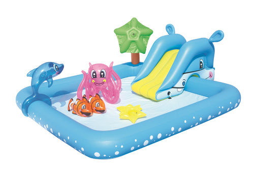 Bestway Play Center Fantastic Aquarium Play Pool (2.39mX2.06mX86cm) - BestwayEgypt