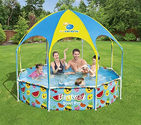 Steel Pro UV Careful 2.44m x 51cm Splash-in-Shade Play Pool (New) - BestwayEgypt