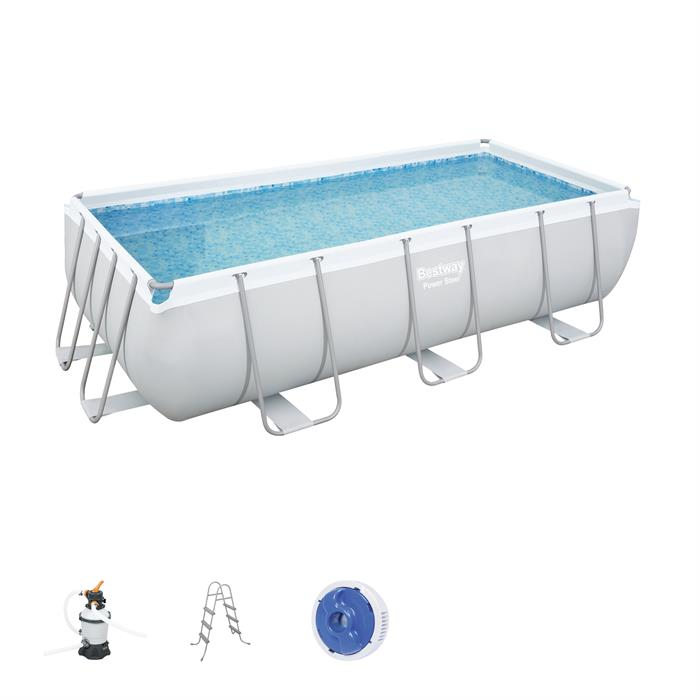 Power Steel 4.04m x 2.01m x 1.00m Rectangular Pool Set - BestwayEgypt