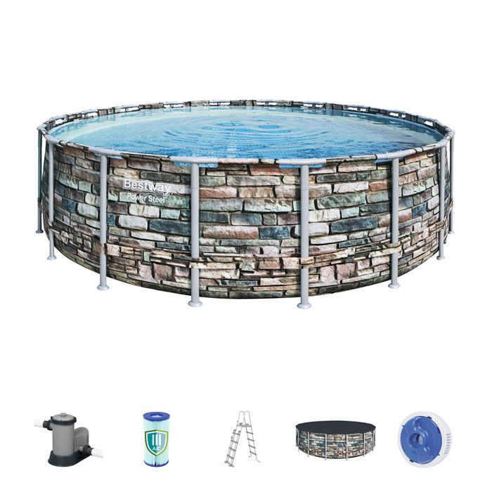 Power Steel™ 5.49m x 1.32m Pool Set - BestwayEgypt