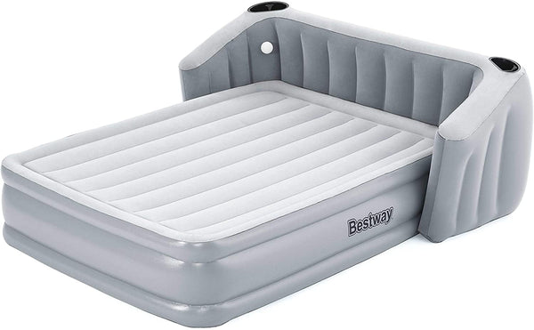Fullsleep Wingback Tritech Airbed Queen Air Mattress with Air Pump2.33m x 1.96m x 80cm - BestwayEgypt