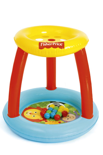 Fisher Price Inflatable Play Island with 15 Play Balls, 89x84 cm - BestwayEgypt