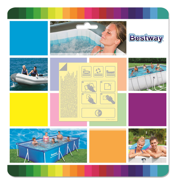 Bestway 6.5cm x 6.5cm Underwater Adhesive Repair Patch - BestwayEgypt