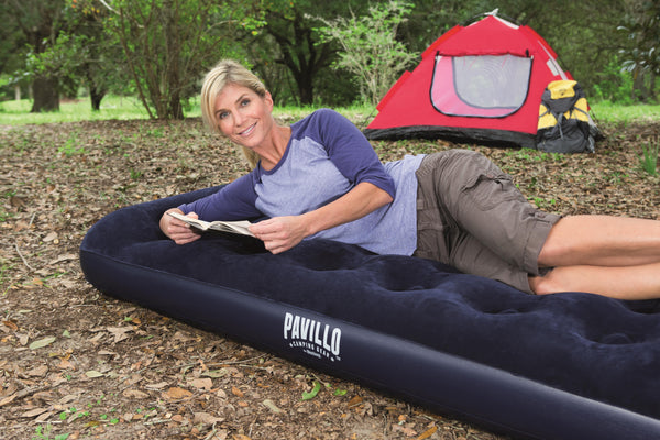 Pavillo 1.88m x 99cm x 28cm Aeroluxe Airbed Twin Built-in Foot Pump - BestwayEgypt