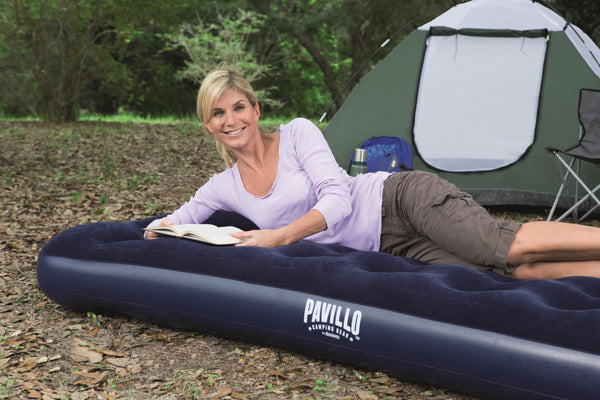 Pavillo 2.03m x 1.52m x 28cm  Aeroluxe Airbed Queen Built-in Foot Pump - BestwayEgypt
