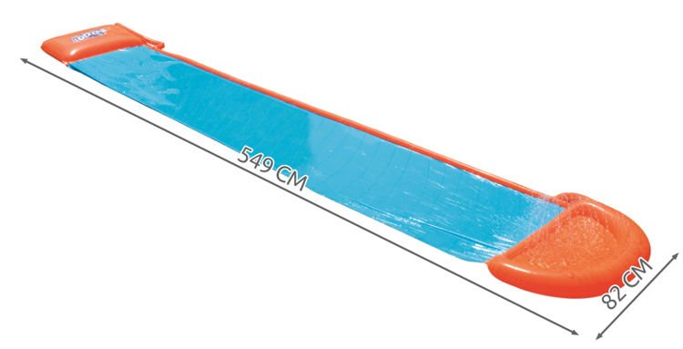 Bestway Water Slide, Multicolor 5.49m - BestwayEgypt