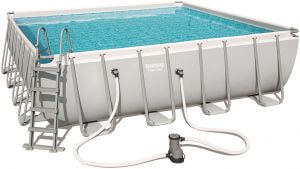 Power Steel 4.88m x 4.88m x 1.22m Square Pool Set - BestwayEgypt