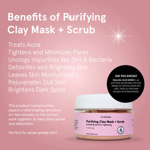 Purifying Clay Mask + Scrub
