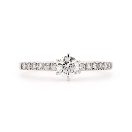 18ct White Gold 0.40ct Diamond Engagement Ring
