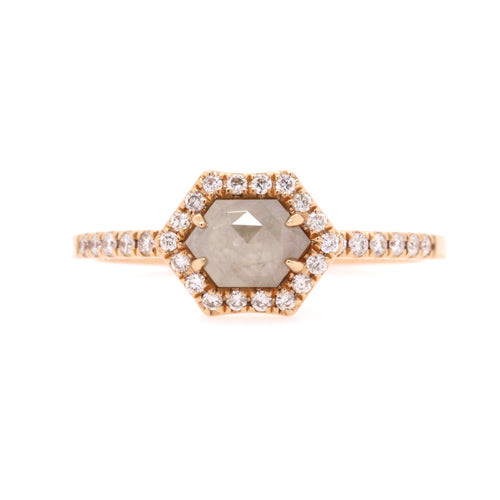 Rose gold diamond slice ring, 0.68ct TDW - Duffs Jewellers