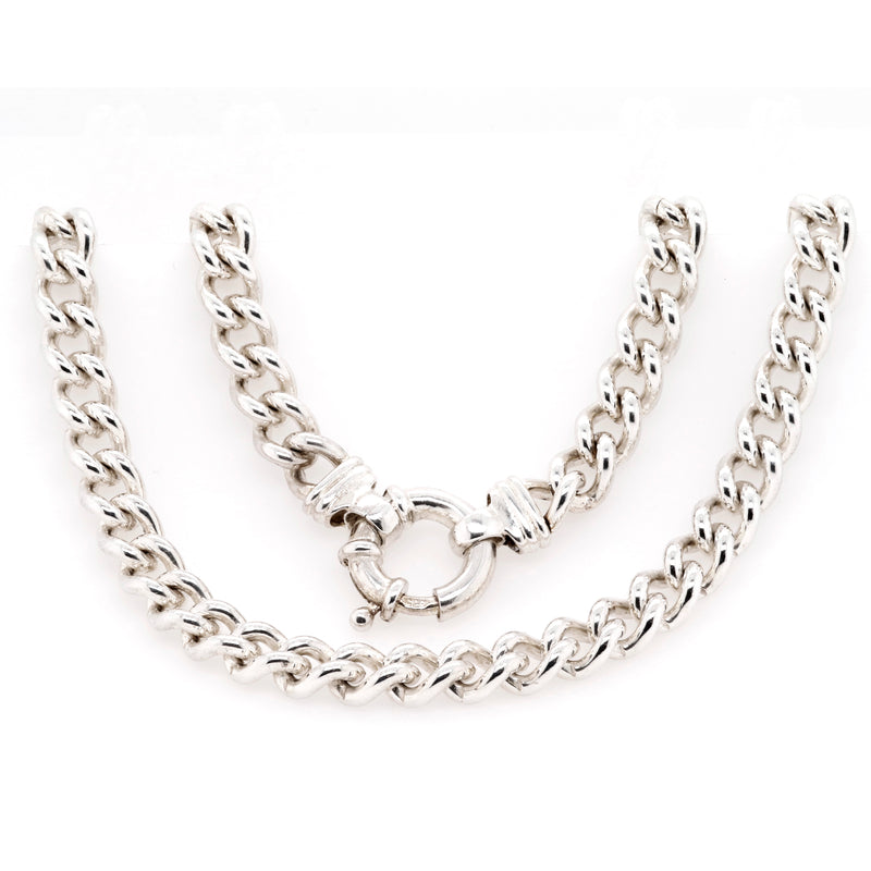 Sterling Silver 50cm Curb Chain Necklace