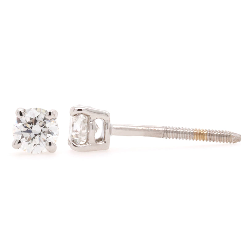 Stud Earrings with 0.40 Carat Total Weight of Diamonds in 18ct White gold - Duffs Jewellers