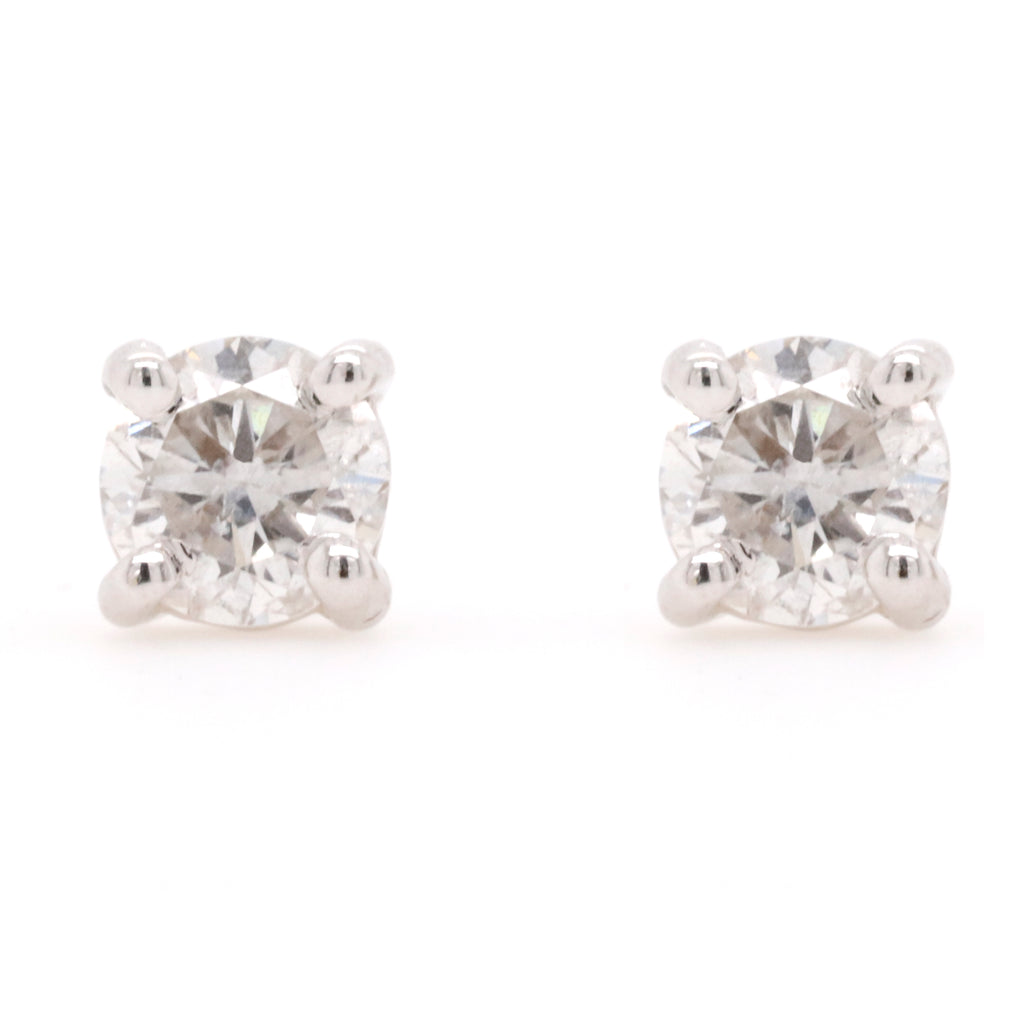 Stud Earrings with 0.90 Carat Total Weight of Diamonds in 18ct White gold - Duffs Jewellers