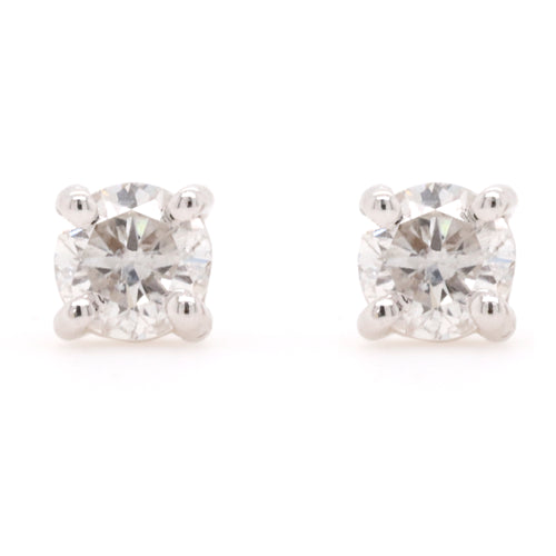 Stud Earrings with 1.00 Carat Total Weight of Diamonds in 18ct White gold - Duffs Jewellers