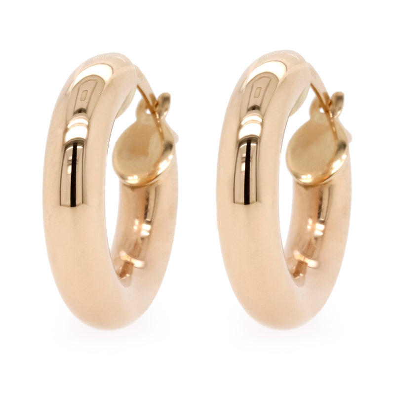 9ct Yellow Gold Small Hoop Earrings - Duffs Jewellers