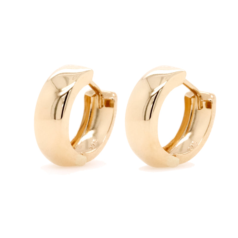 9ct Yellow Gold Huggie Earrings - Duffs Jewellers