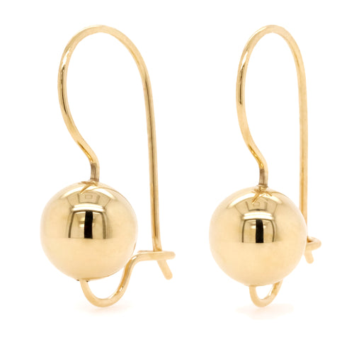 9ct Yellow Gold Euro Ball Earrings - Duffs Jewellers