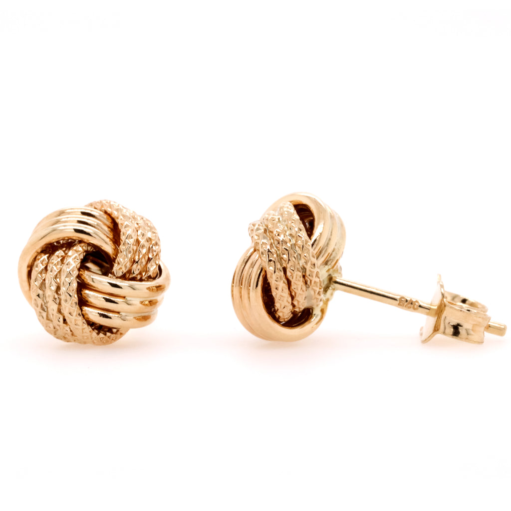 9ct Yellow Gold Knot Stud Earrings - Duffs Jewellers