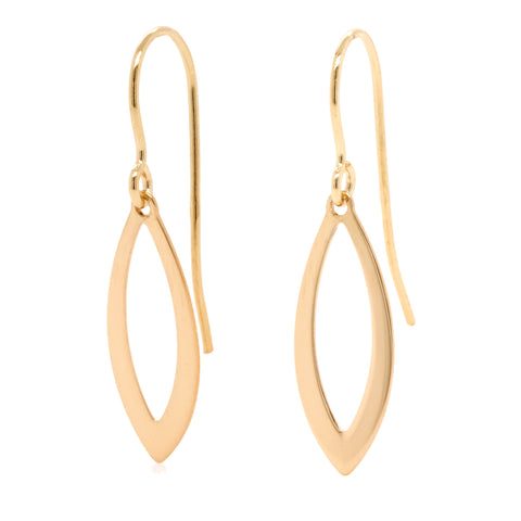 9ct Yellow Gold Small Drop Earrings