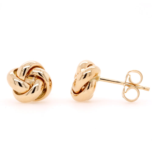 9ct Yellow Gold Polished Knot Stud Earrings - Duffs Jewellers