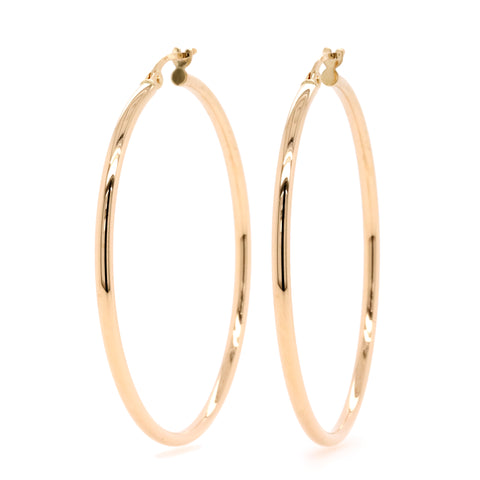 9ct Yellow Gold Large Hoop Earrings