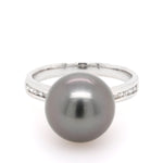 Tahitian pearl and diamond ring - Duffs Jewellers