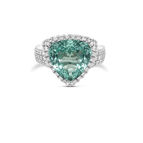 Trilliant cut Tourmaline ring - Duffs Jewellers