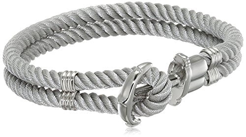 Paul Hewitt Anchor Bracelet PHREP Stainless Steel Nylon Grey XL (20 cm)