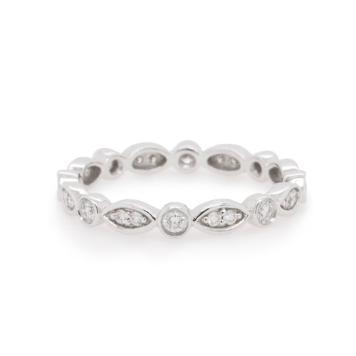 White gold diamond band - Duffs Jewellers