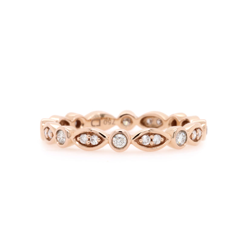 Rose gold diamond band - Duffs Jewellers