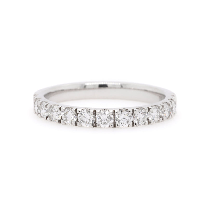 18ct White Gold Diamond Wedding Ring TDW = 0.78ct - Duffs Jewellers