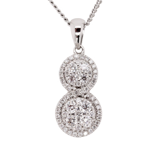 Diamond cluster pendant - Duffs Jewellers