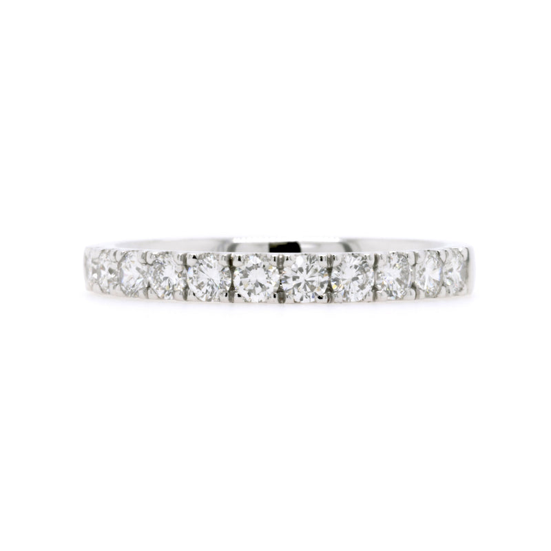 18ct White Gold Diamond Wedding Ring TDW = 0.61ct - Duffs Jewellers