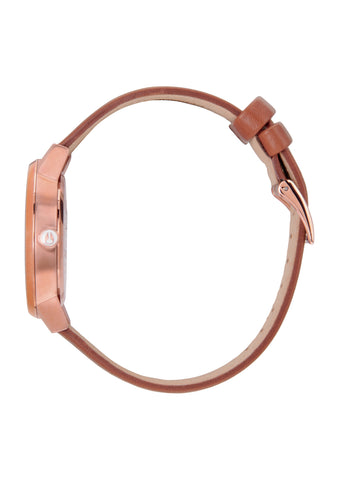 NIXON Kensington Leather | Rose Gold / White