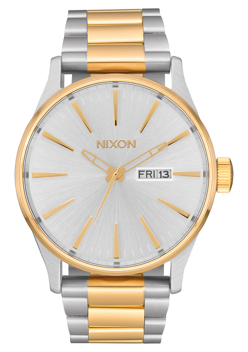 NIXON Sentry Stainless Steel | Silver / Gold - Duffs Jewellers