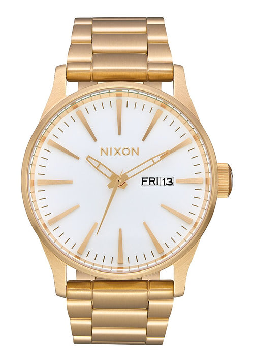 NIXON Sentry Stainless Steel | All Gold / White - Duffs Jewellers