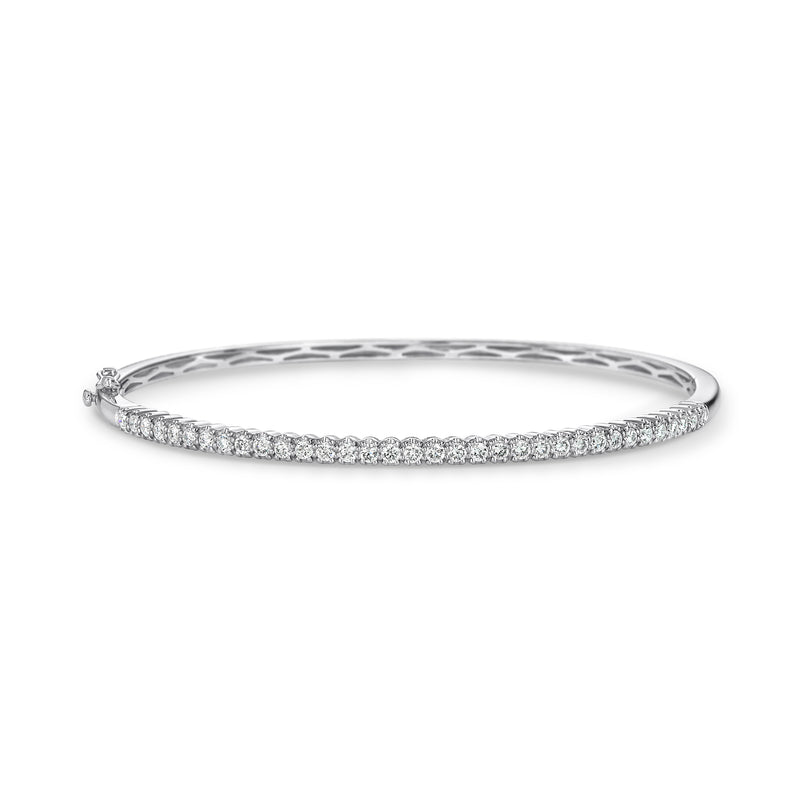 White gold diamond set bangle