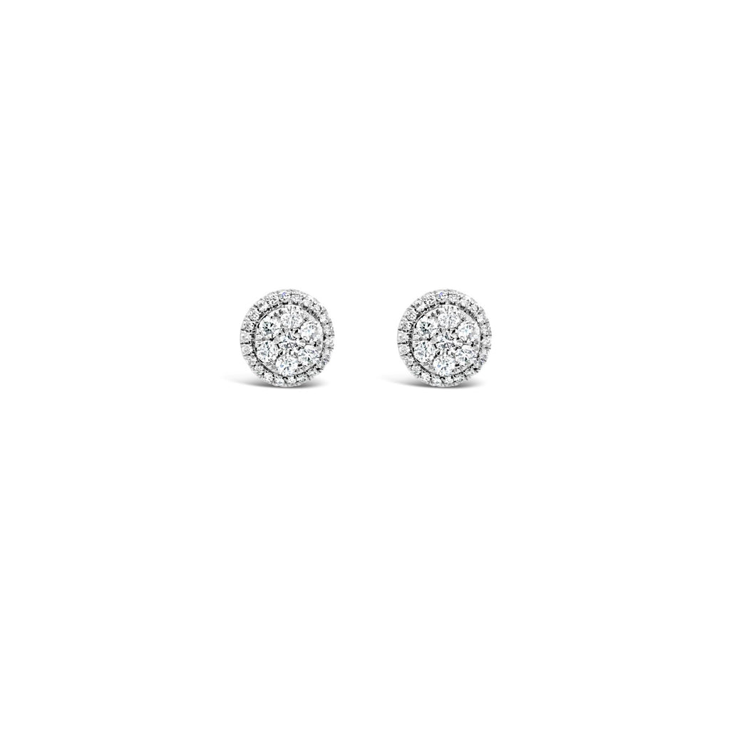Round halo earrings 0.34ct