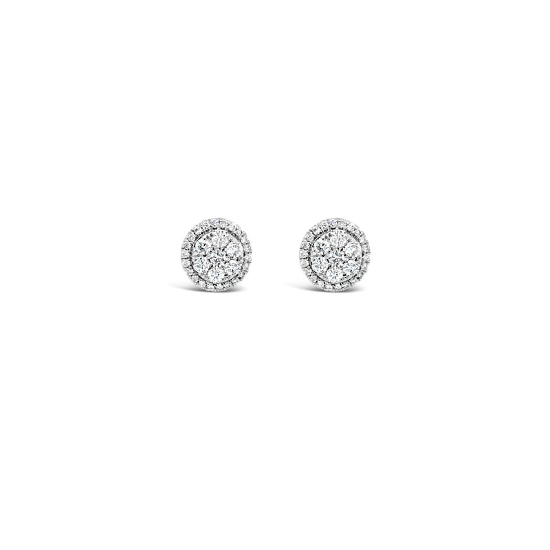 Round halo earrings 0.34ct - Duffs Jewellers