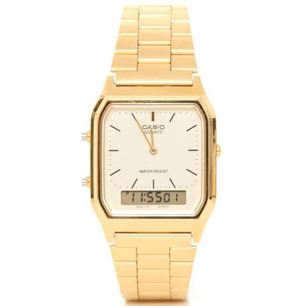 Casio Classic Gold Digital Analog Watch AQ230GA-9DS